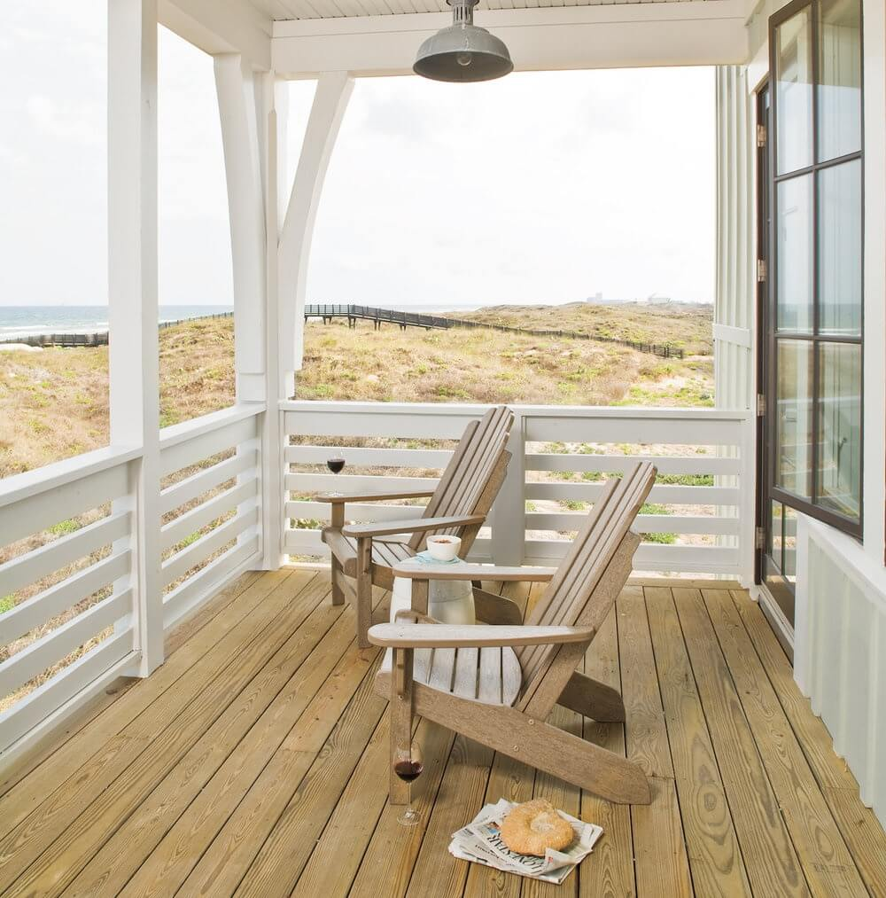 Port Aransas Texas Beach House Porch