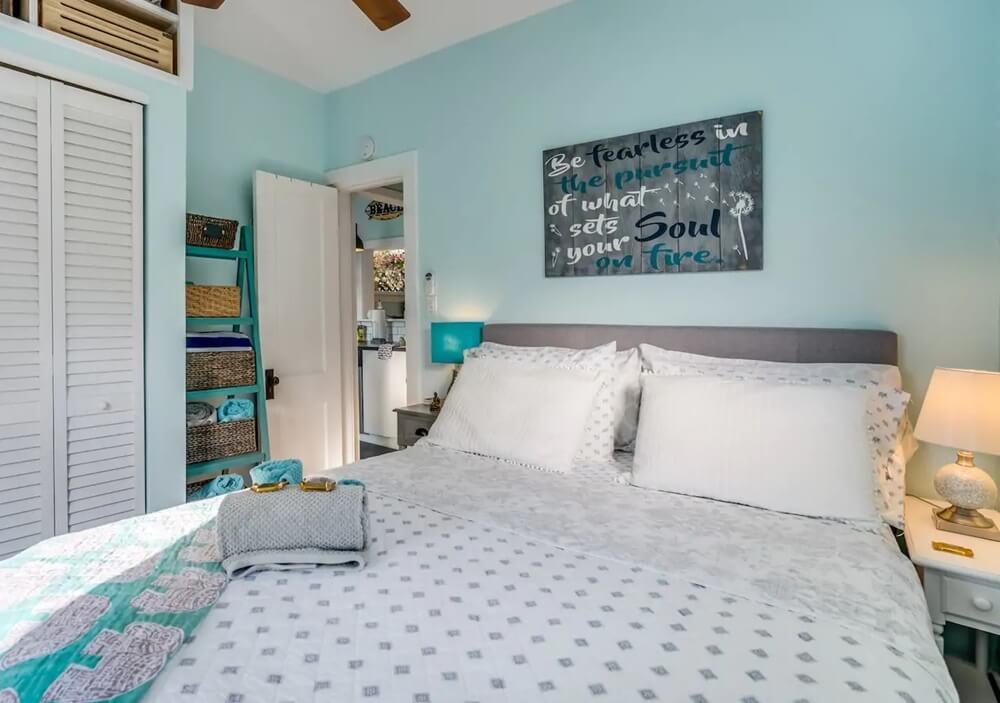 Lake Worth Florida Beach Cottage Bedroom