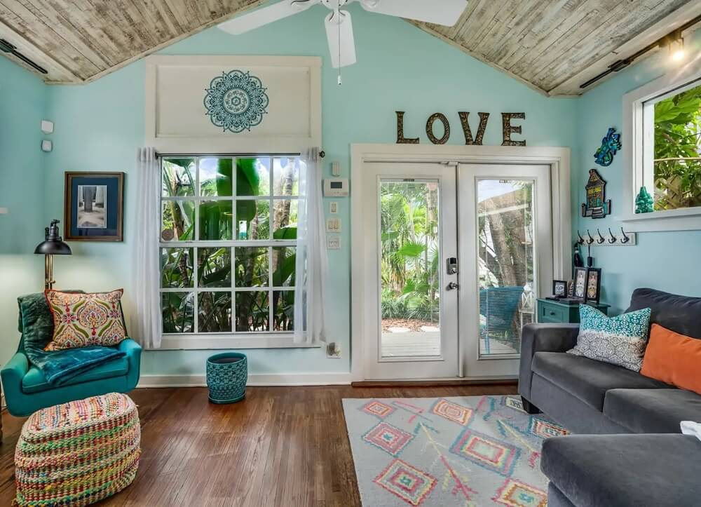 Lake Worth Florida Beach Cottage Living Room