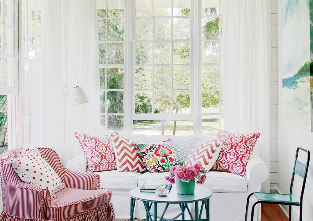 Tybee Island Georgia Beach Cottage Living Room