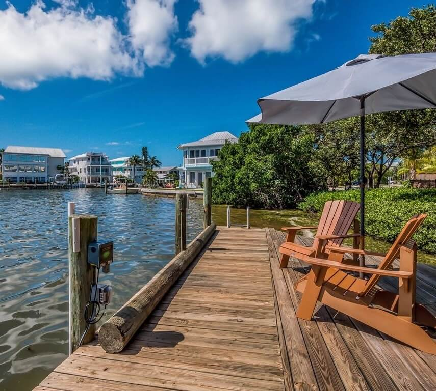 Anna Maria Sound Waterfront Rental Dock