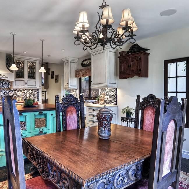 Historic Laguna Beach Home Dining Area
