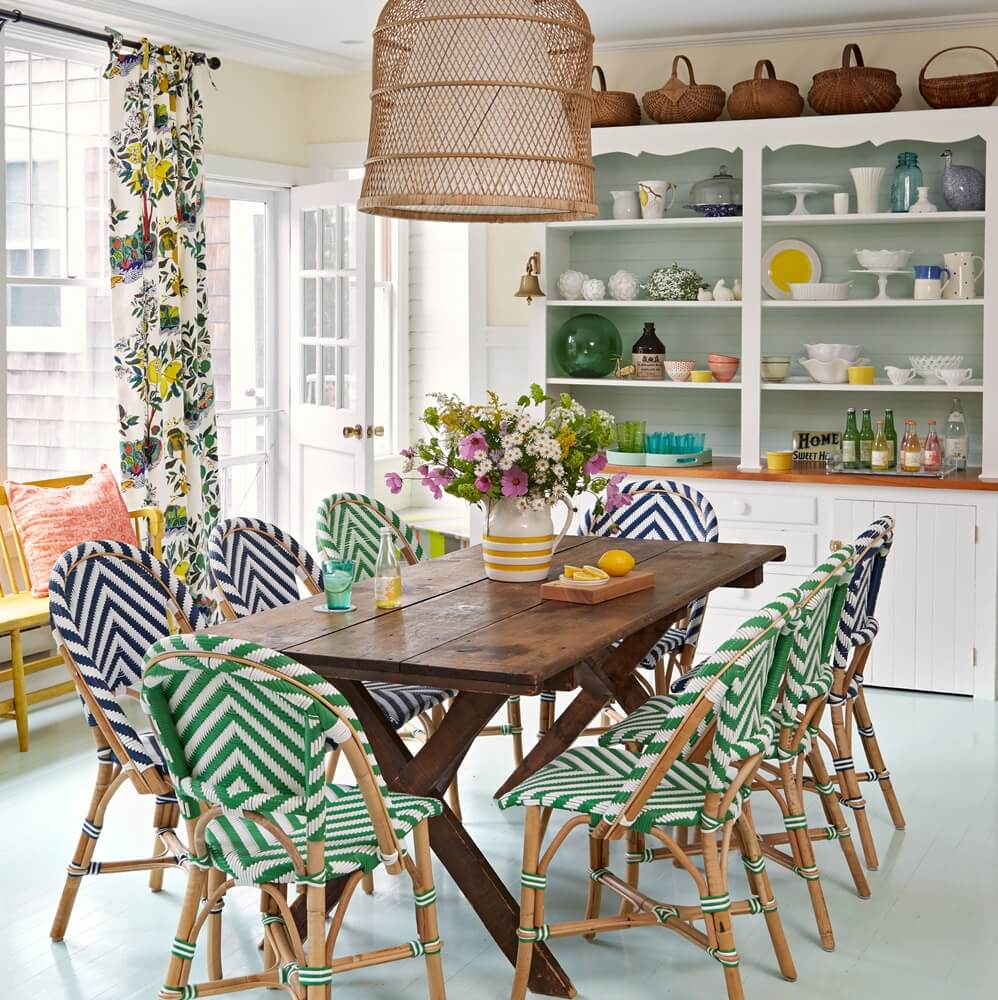 Historic Maine Beach Cottage Dining Room