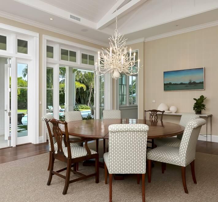 Naples Florida Beach House Dining Area