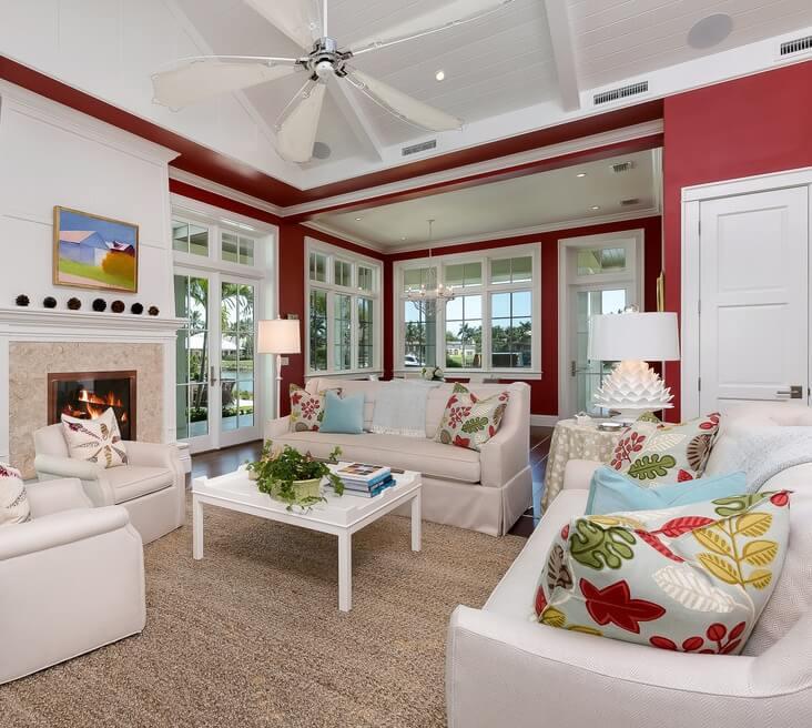 Naples Florida Beach House Family Room