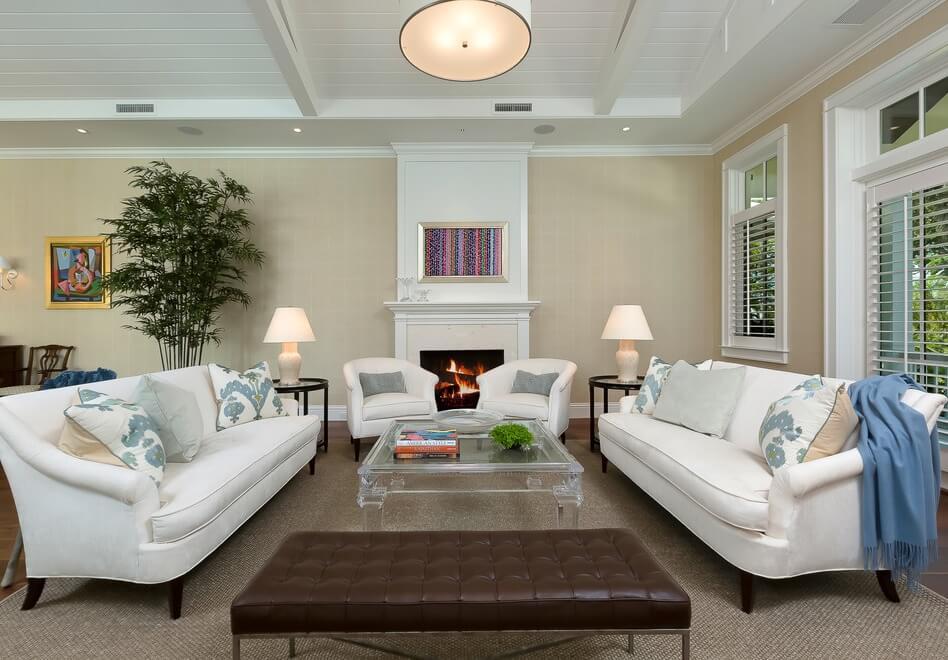 Naples Florida Beach House Living Room