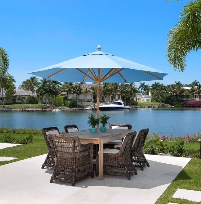 Naples Florida Beach House Outside Dining Area