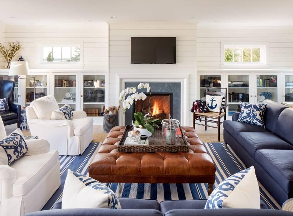 Southampton New York Beach House Living Room