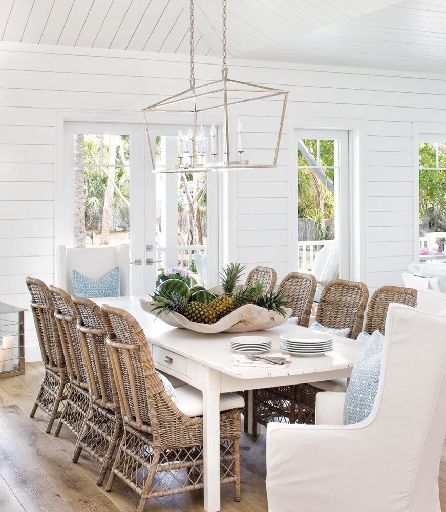 Hobe Sound Florida Beach Cottage Dining Room