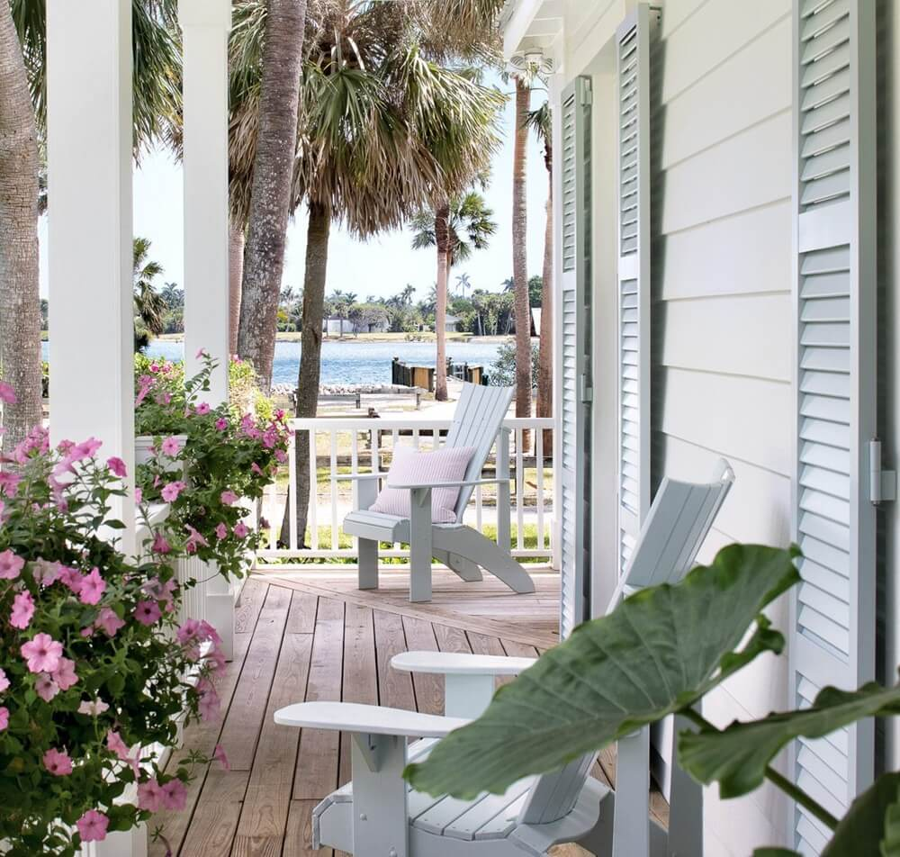 Hobe Sound Florida Beach Cottage Front Porch