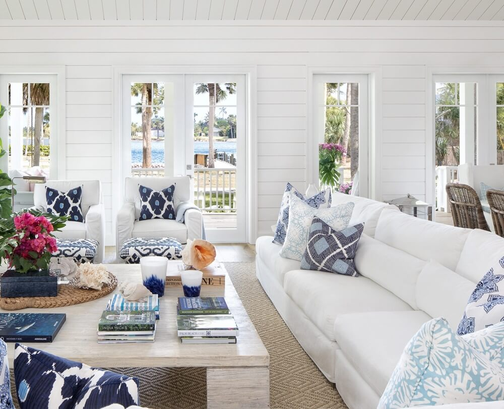 Florida Beach Cottage Living Room