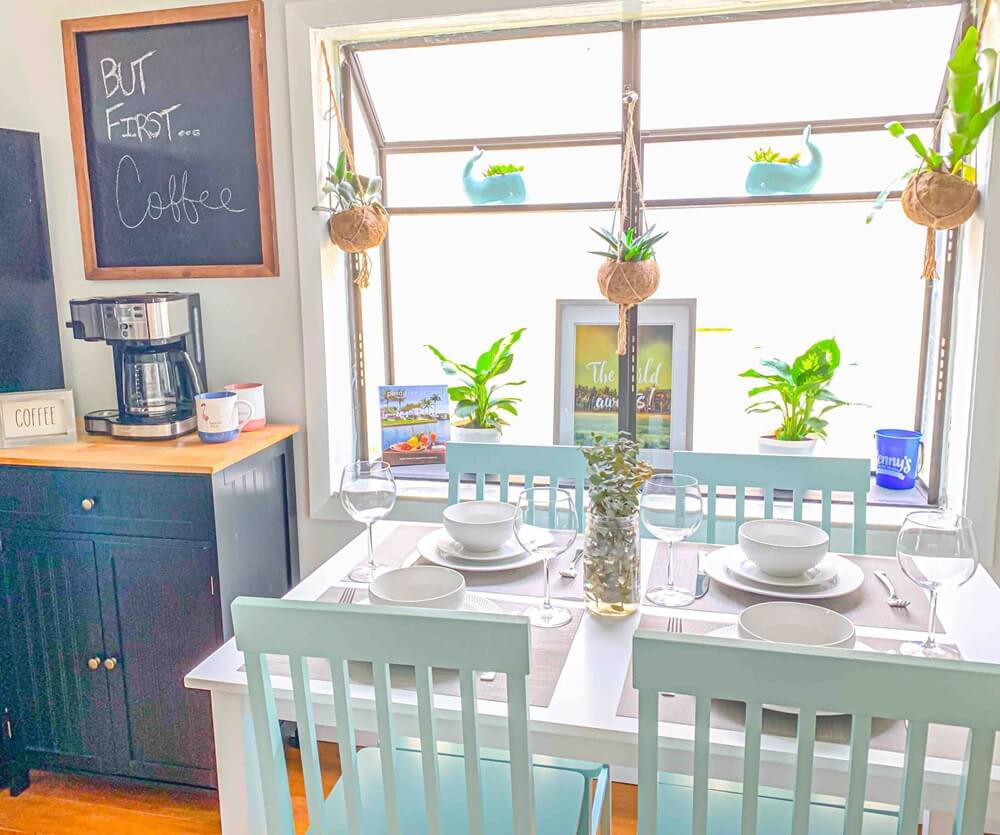 Lake Worth FL Bungalow Dining Area