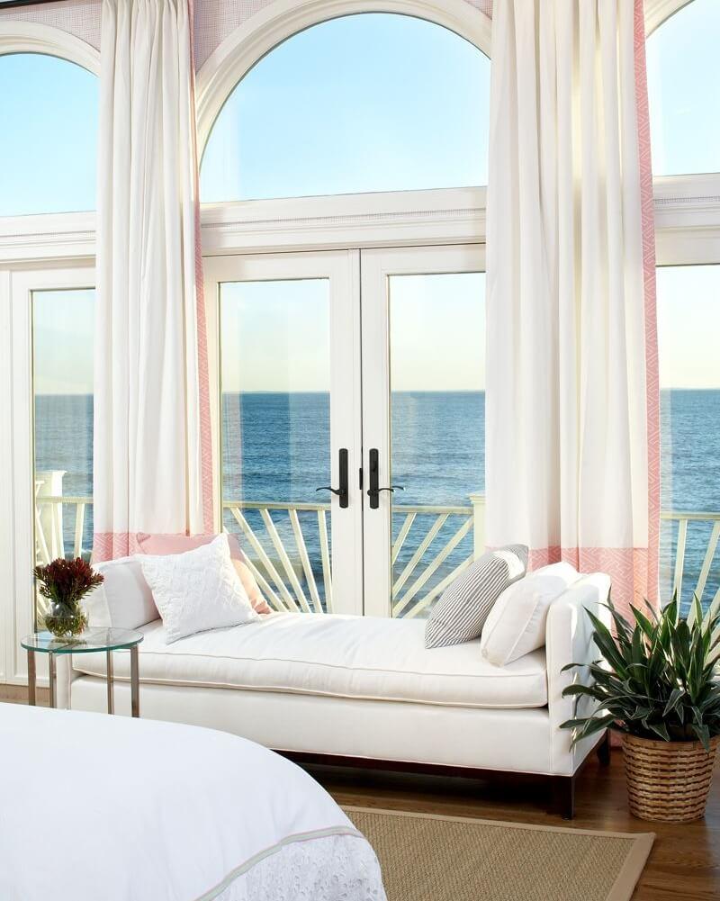 Boston Massachusetts Beach House Master Bedroom Sofa