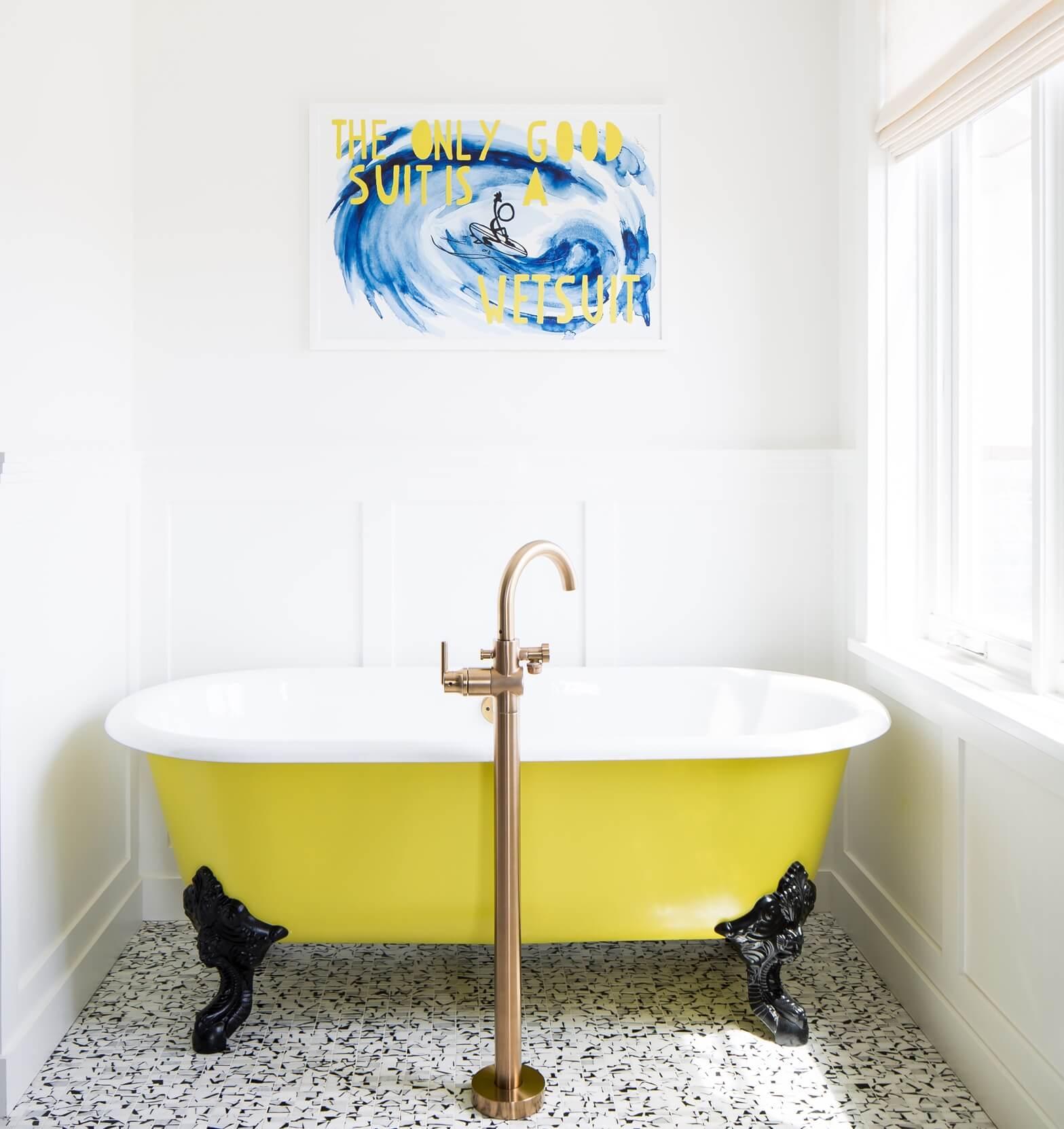Newport Beach California Beach Master Bathroom Tub