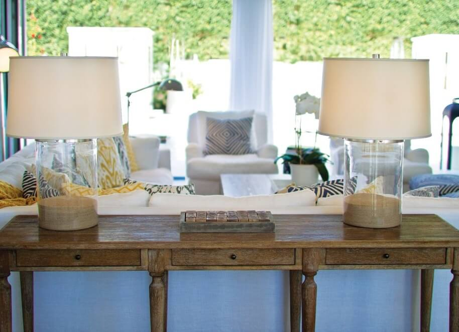 East Hampton New York Living Room Console Table
