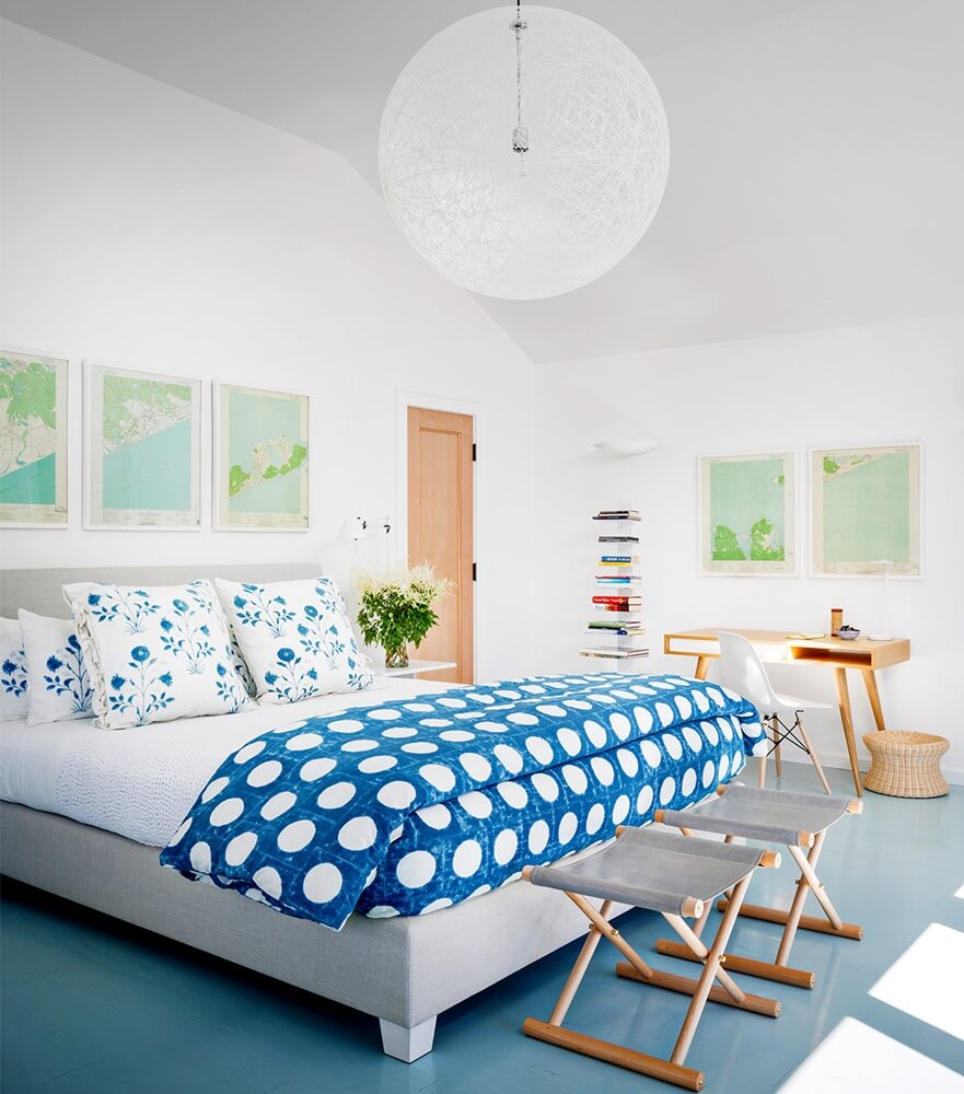 Montauk New York Beach House Master Bedroom
