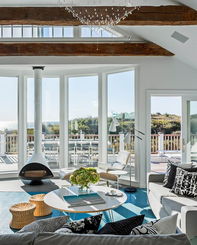 Montauk New York Beach House Living Room View