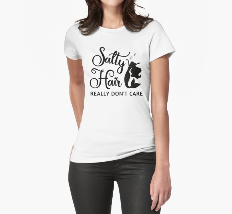 Salty Hair Fitted T-Shirt
