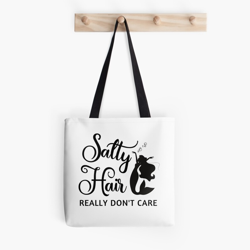 Salty Hair Tote Bag