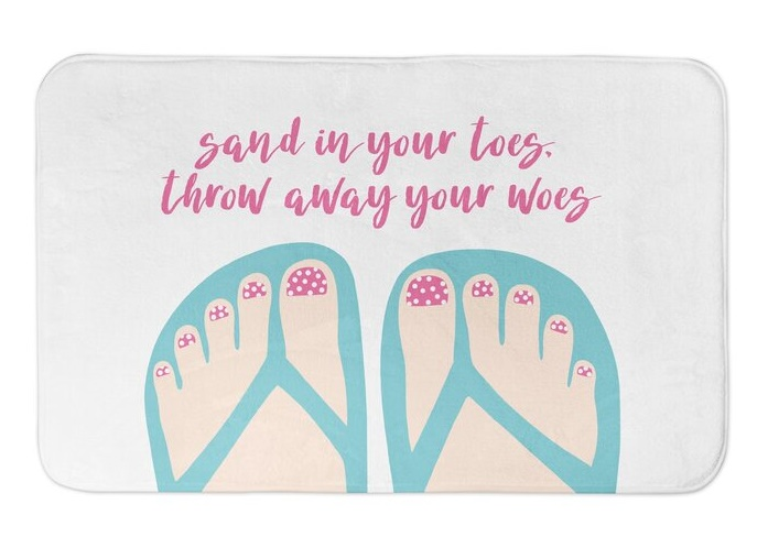 Sand in Your Toes Bath Mat