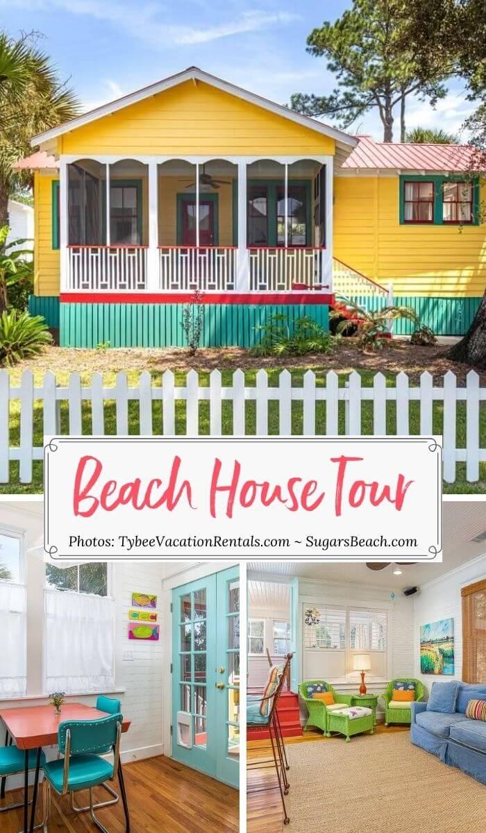 Tybee Island Georgia Beach Cottage colorful home