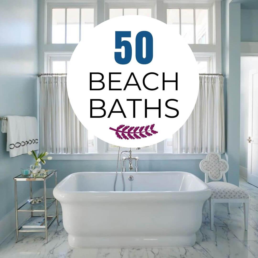 Beach Themed Bathrooms Over 39, Seaside Bathroom Decor