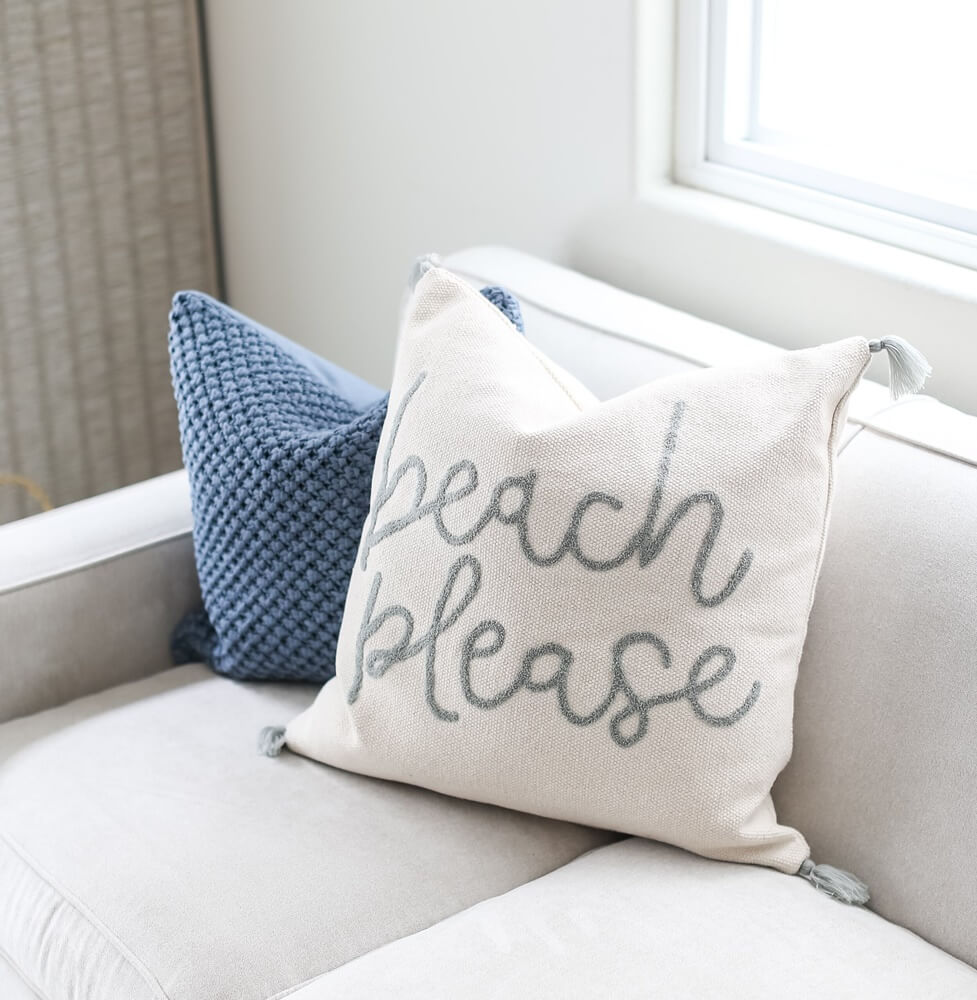 Huntington Beach California Family Room Throwpillows